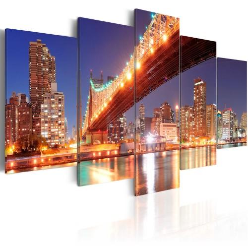 Quadro - Riflessi dorati: New York - Quadri e decorazioni