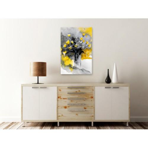 Quadro - Bouquet of Colours (1 Part) Vertical Yellow - Quadri e decorazioni