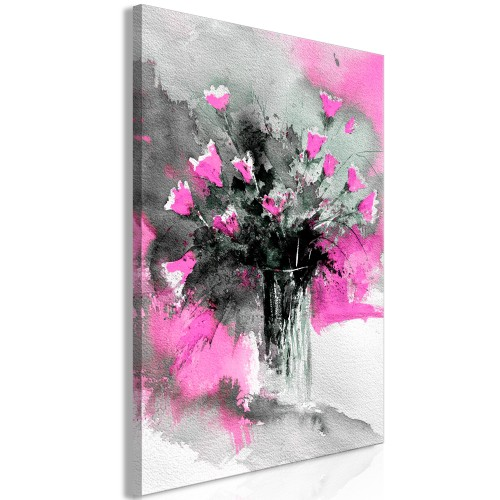 Quadro - Bouquet of Colours (1 Part) Vertical Pink - Quadri e decorazioni