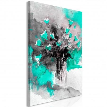 Quadro - Bouquet of Colours (1 Part) Vertical Green - Quadri e decorazioni