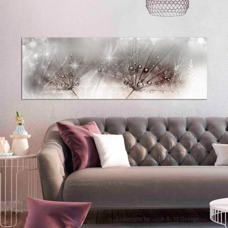 Quadro - Drops of Dew (1 Part) Pink Narrow - Quadri e decorazioni