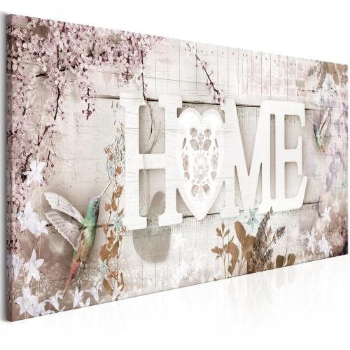 Quadro - Home and Hummingbirds (1 Part) Beige Narrow - Quadri e decorazioni