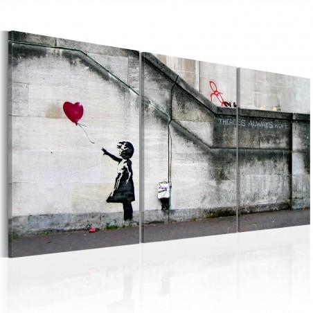 Quadro - C'è ancora speranza (Banksy): trittico - Quadri e decorazioni