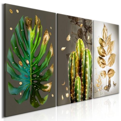 Quadro - Covered in Gold (3 Parts) - Quadri e decorazioni