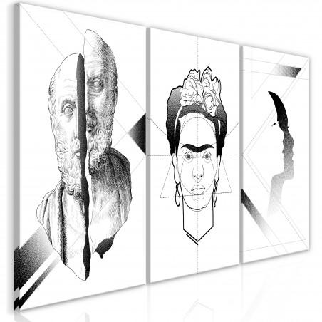 Quadro - Facial Composition (3 Parts) - Quadri e decorazioni
