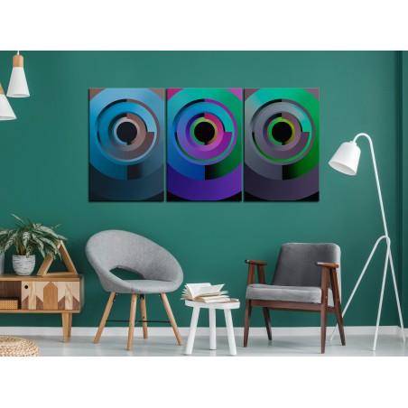 Quadro - Gradient Circles (3 Parts) - Quadri e decorazioni