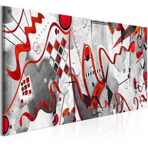Quadro - Red Ribbons (1 Part) Wide - Quadri e decorazioni