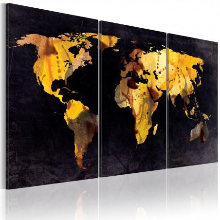 Quadro - Mappa del mondo: sabbie moventi - Quadri e decorazioni