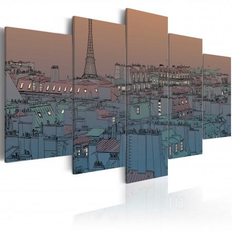 Quadro - Parigi: calano le tenebre - Quadri e decorazioni