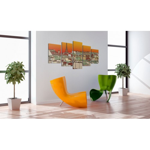 Quadro - Cielo parigino color arancio - Quadri e decorazioni