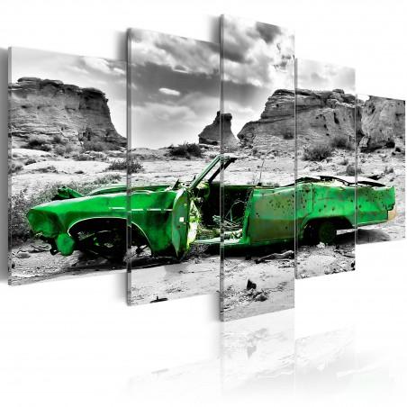 Quadro - Macchina verde in stile retrò nel deserto di Colorado - Quadri e decorazioni