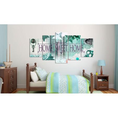Quadro - Chiave per lo sfondo verde smeraldo - Quadri e decorazioni