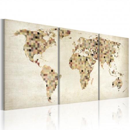 Quadro - Mappa del mondo: quadrati - Quadri e decorazioni