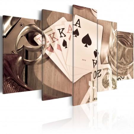 Quadro - Notte di poker - seppia - Quadri e decorazioni