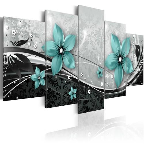 Quadro - Turchese fiore di notte - Quadri e decorazioni