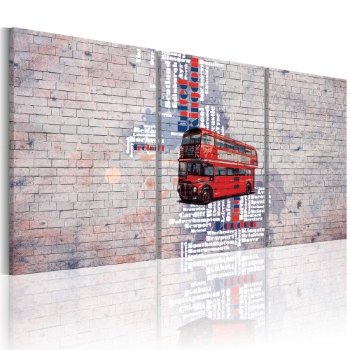 Quadro - carta stradale: Regno unito - Quadri e decorazioni