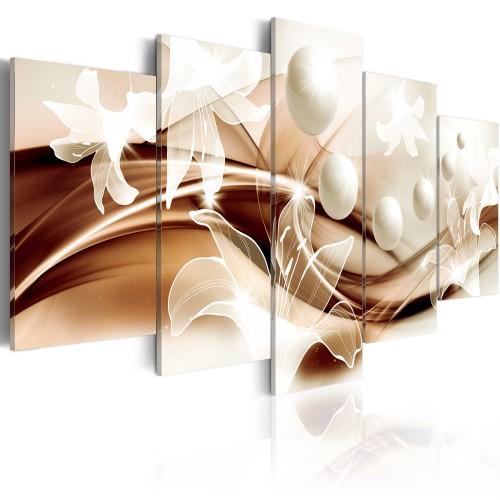 Quadro - Gigli di perla in marrone - Quadri e decorazioni