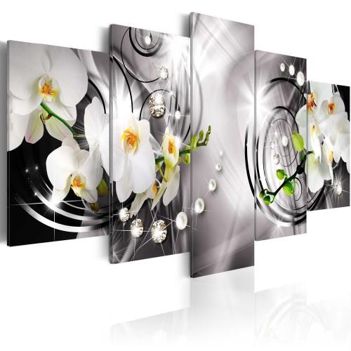 Quadro - Orchidea, perle e diamanti - Quadri e decorazioni