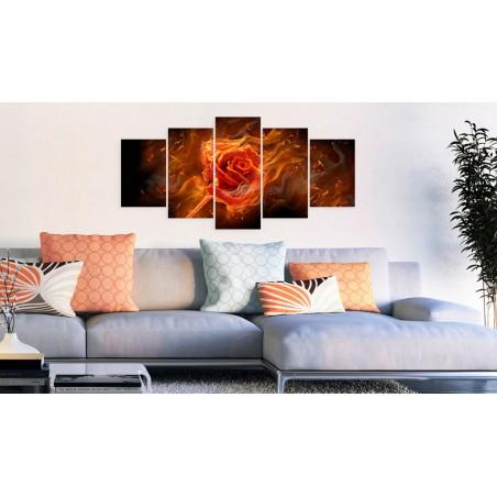 Quadro - Flaming Rose - Quadri e decorazioni