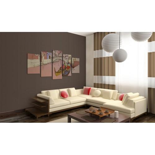 Quadro - Romantic gondolas - 5 pieces - Quadri e decorazioni