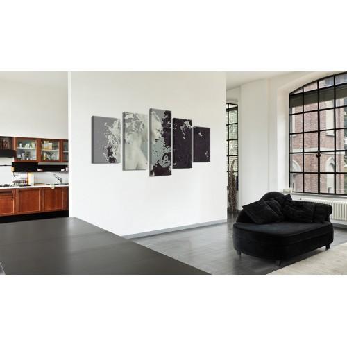 Quadro - Black or white? - 5 pieces - Quadri e decorazioni