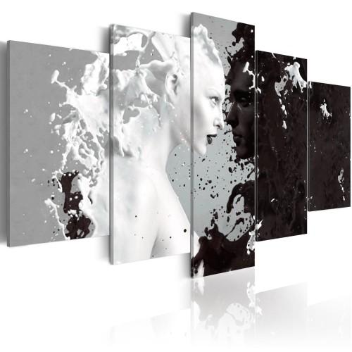 Quadro - Milk & Choco - 5 pieces - Quadri e decorazioni