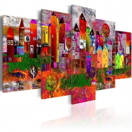 Quadro - Piccola cittadina colorata - Quadri e decorazioni