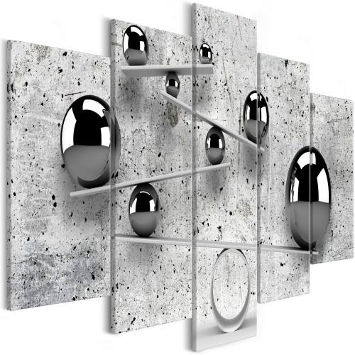 Quadro - Balls and Concrete (5 Parts) Wide - Quadri e decorazioni