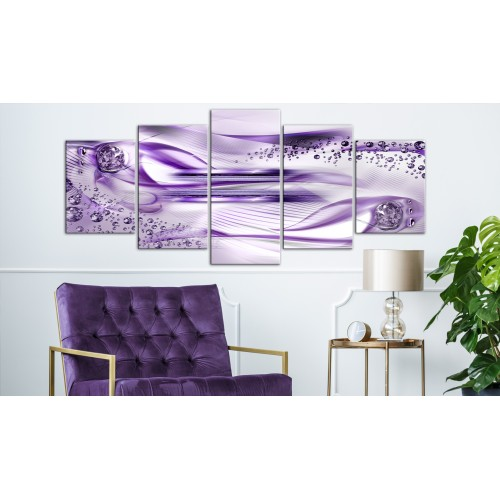 Quadro - Underwater Harp (5 Parts) Wide Violet - Quadri e decorazioni