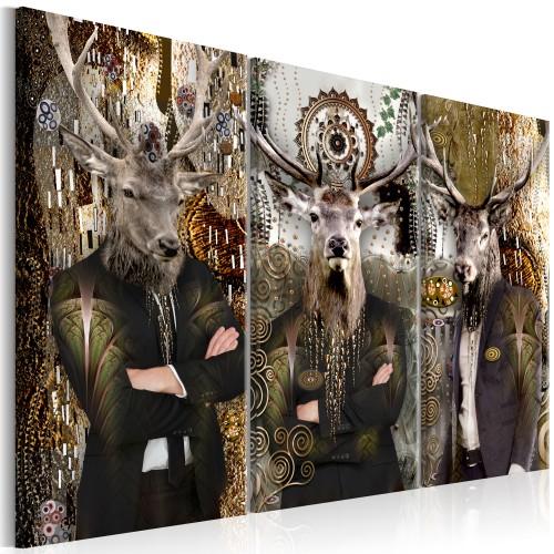 Quadro - Animal Trio (3 Parts) Brown - Quadri e decorazioni