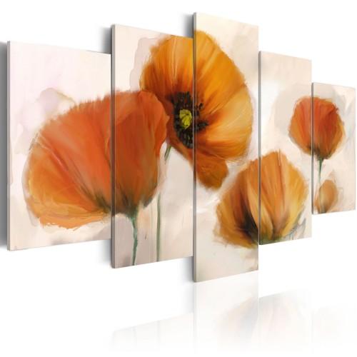Quadro - Papaveri artistici - 5 pannelli - Quadri e decorazioni