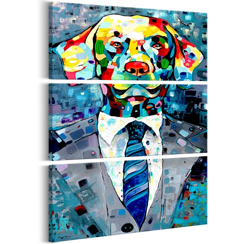 Quadro - Dog in a Suit (3 Parts) - Quadri e decorazioni