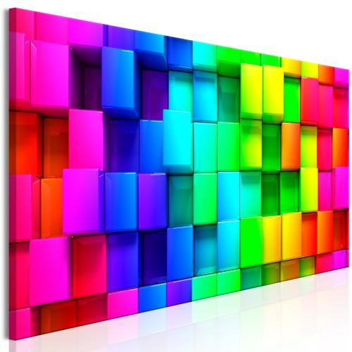 Quadro - Colourful Cubes (5 Parts) Narrow - Quadri e decorazioni